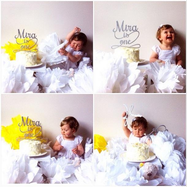 Dünya tatlısı Mira 1 yaşında